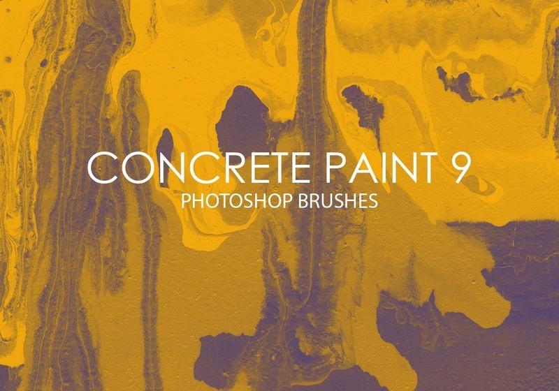 Free Concrete Paint Photoshop Brushes 9 Photoshop brush