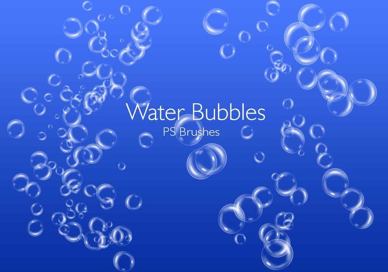 20 Water Bubbles PS Brushes abr.Vol.3 Photoshop brush