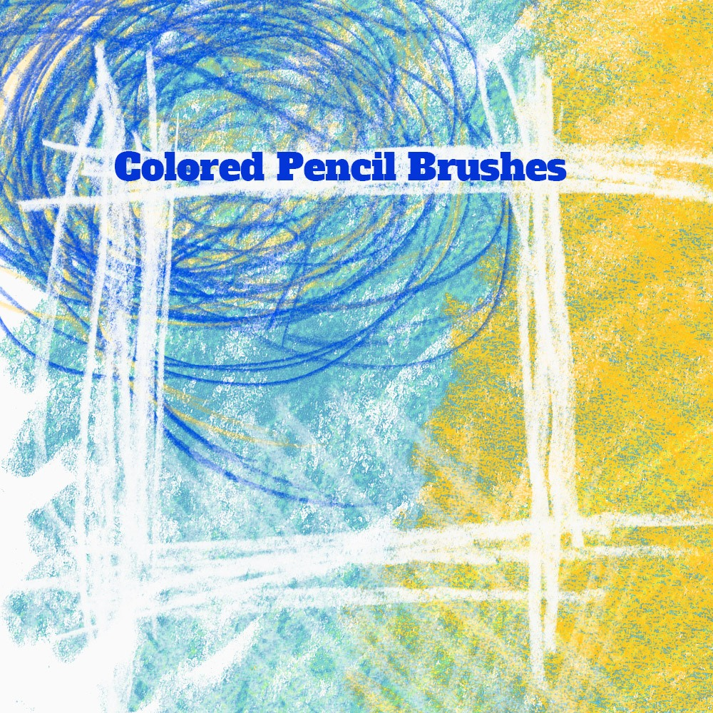 15 Colored Pencil PS Brushes Photoshop brush