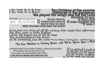 Bowie Lyrics 01 Photoshop brush
