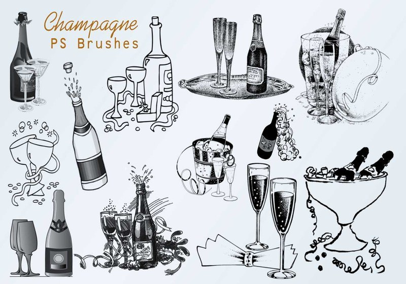 20 Champagne PS Brushes abr.vol.3 Photoshop brush