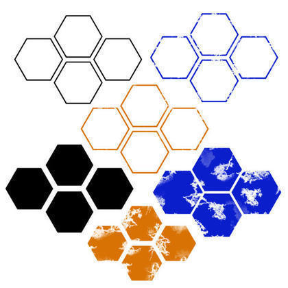 Regular & Distressed Hexagon Brushes Photoshop brush