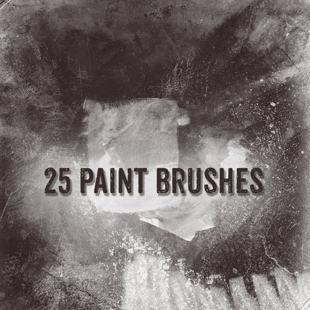 25 Free Paint Brushes Photoshop brush