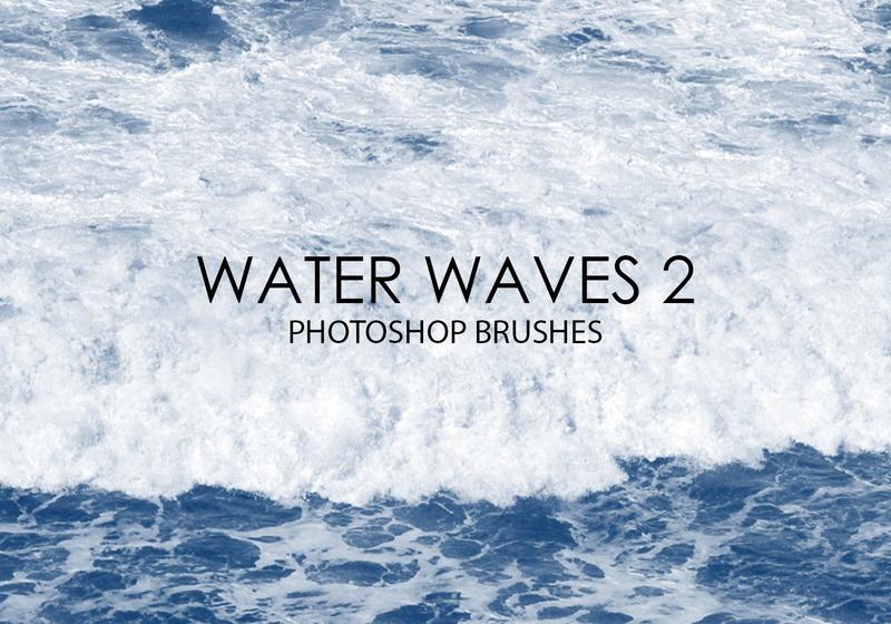 Free Water Waves Photoshop Brushes 2 Photoshop brush