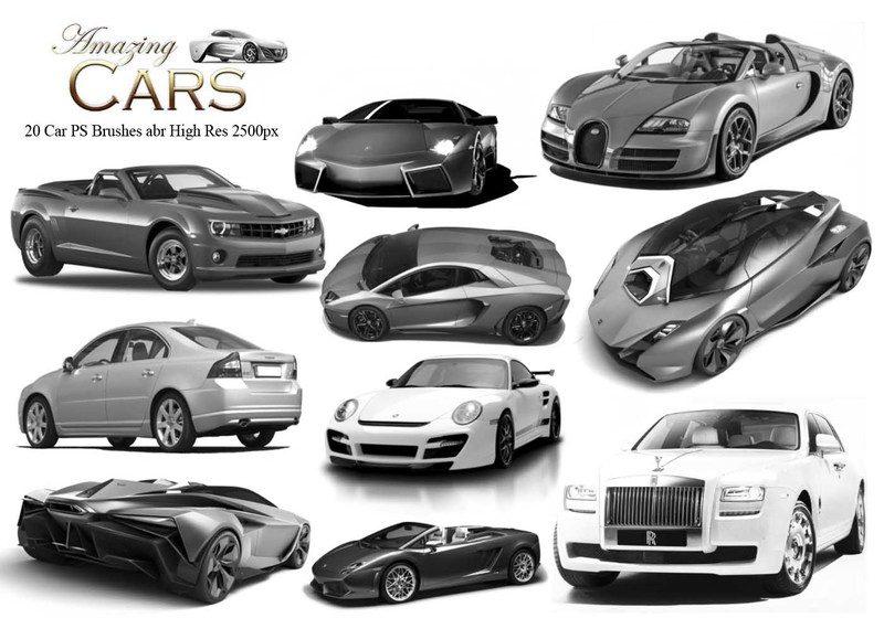 20 Amazing Cars PS Brushes  Photoshop brush