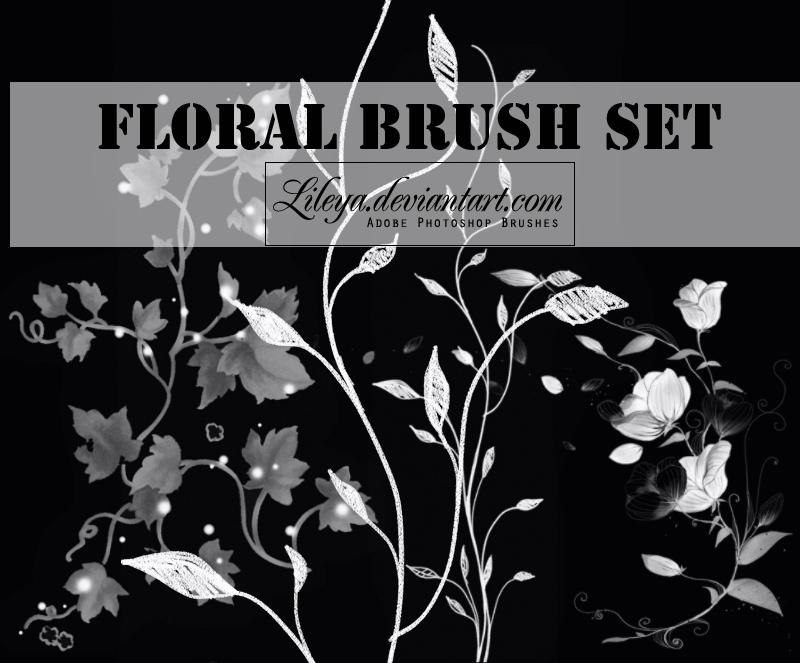 Floral brush set Photoshop brush