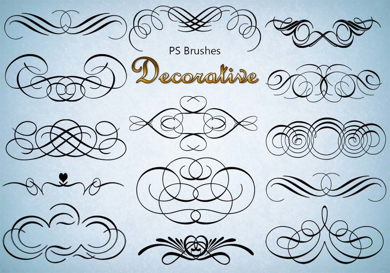 20 Decorative PS Brushes abr. Vol.3 Photoshop brush