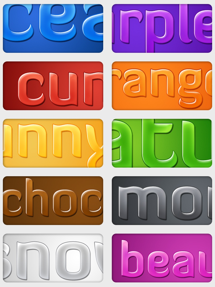 Glossy Text Styles Photoshop brush