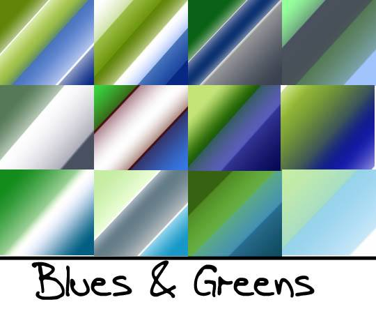 Blues and Greens Photoshop brush