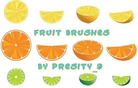 18 Fruit Brushes For Photoshop CS3 Photoshop brush