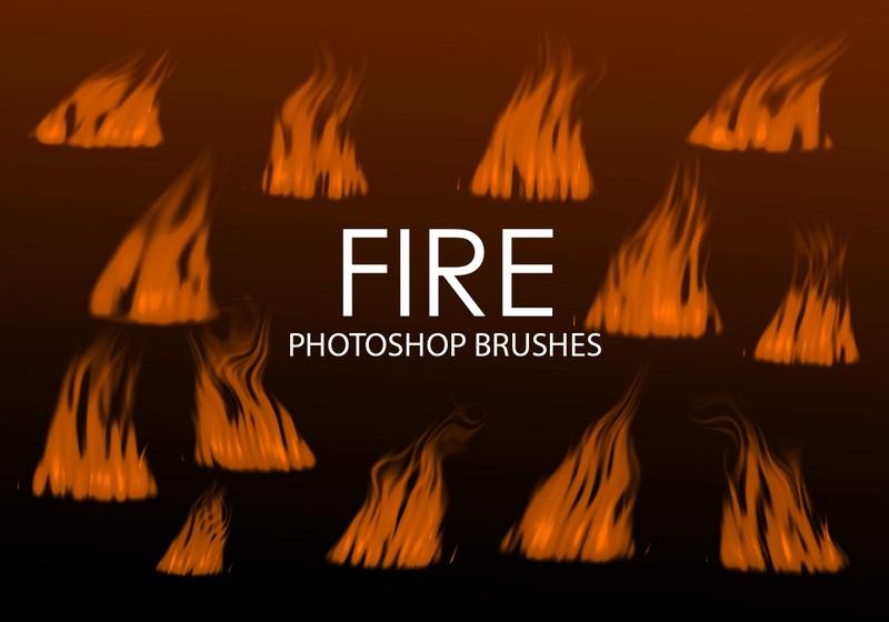 Free Digital Fire Photoshop Brushes 3 Photoshop brush