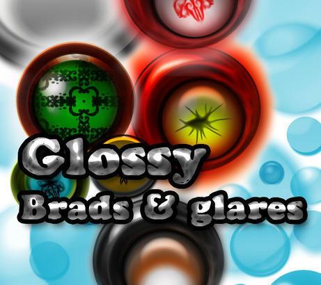 Glossy brads & glares Photoshop brush