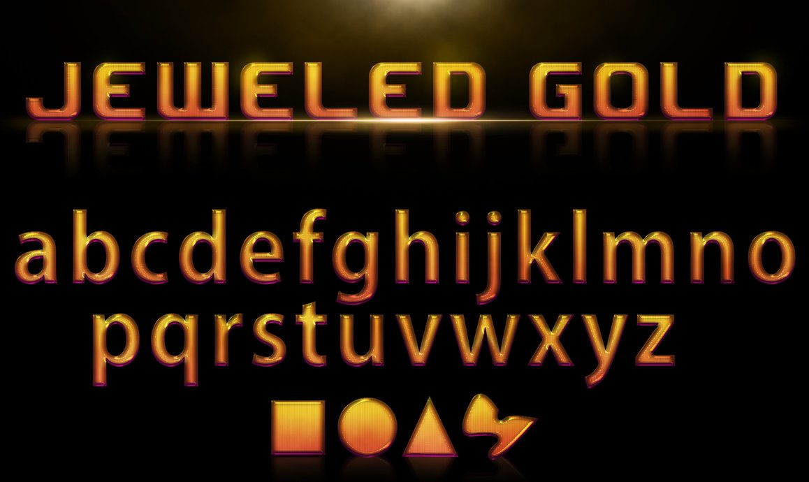 Jeweled Gold Style Photoshop brush