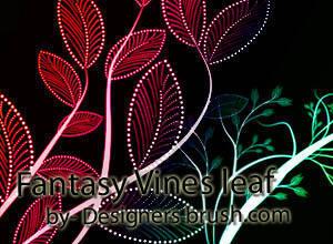 Fantasy Vines leaf Photoshop brushes Photoshop brush