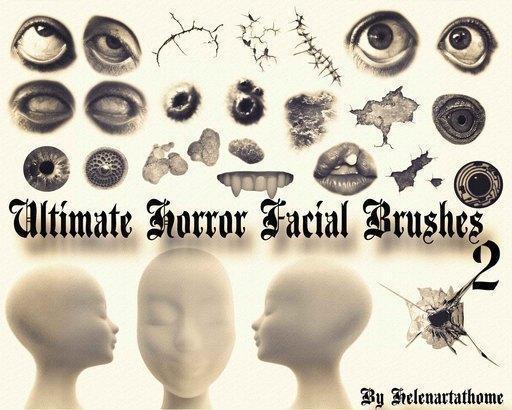 Ultimate Horror Facial Brushes 2 Photoshop brush
