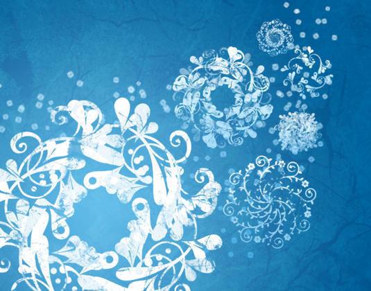 Frosted Snow Flake Brushes Photoshop brush