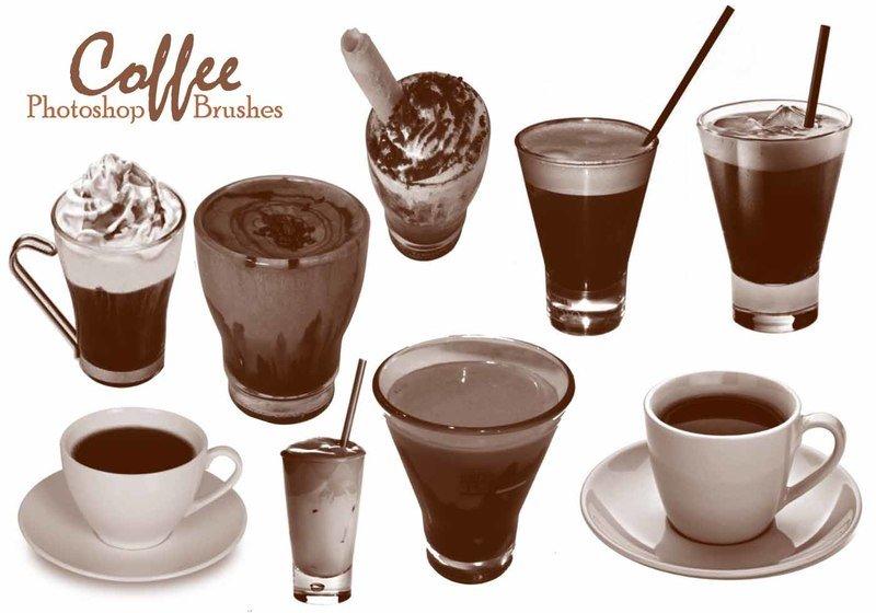 20 Coffee Brushes abr.  Photoshop brush