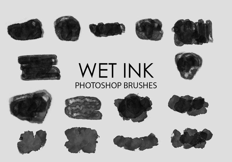 Free Wet Ink Photoshop Brushes 3 Photoshop brush