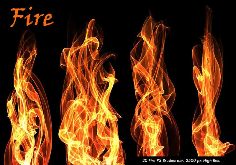 20 Fire PS Brushes abr.Vol.5 Photoshop brush