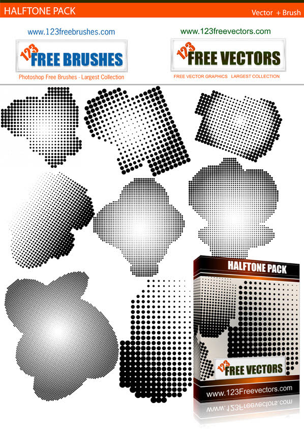 Halftone brush Photoshop brush