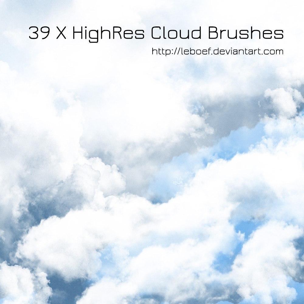 39 Cloud Brushes Photoshop brush