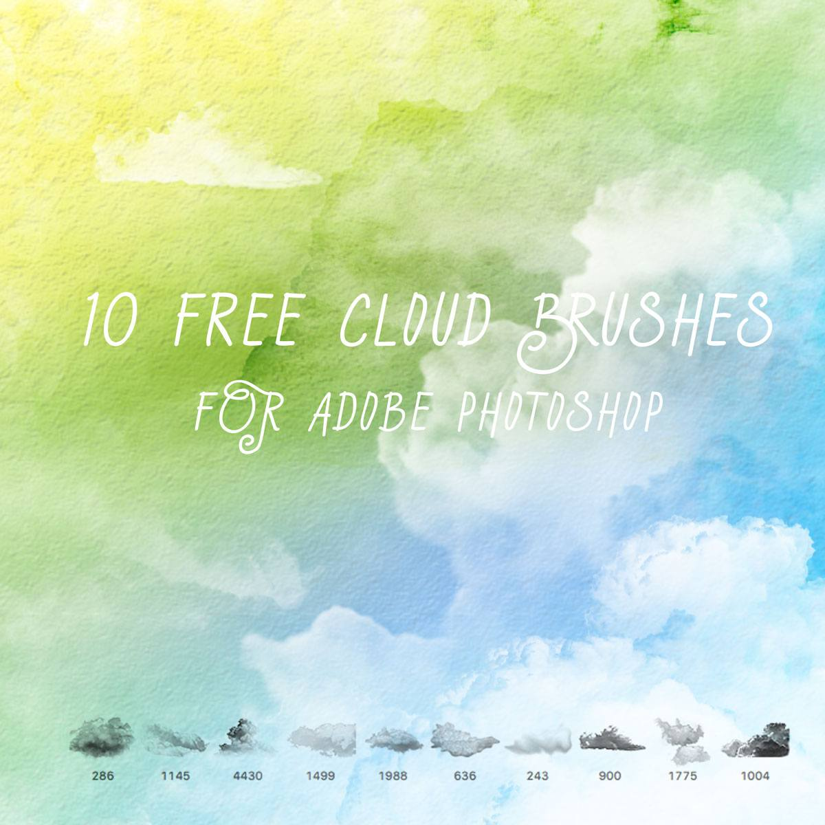 10 Free Cloud Brushes Photoshop brush