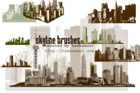 Skylines Photoshop brush