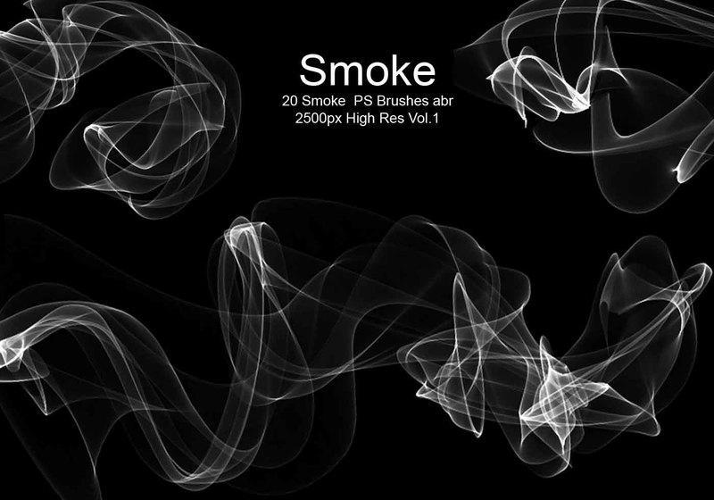 20 Smoke PS Brushes abr. Vol.1 Photoshop brush