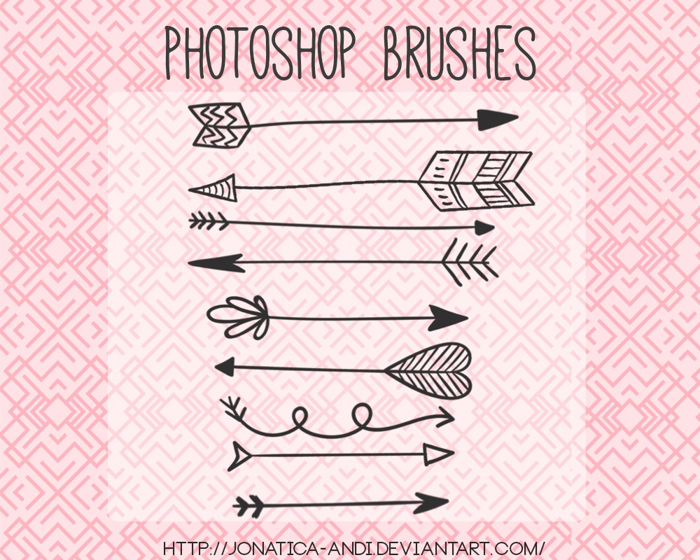 9 Arrow Brushes Photoshop brush