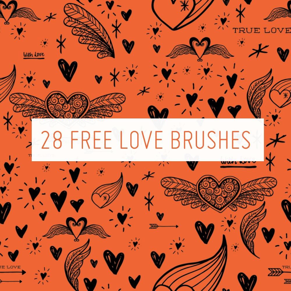 28 Free Love Brushes Photoshop brush