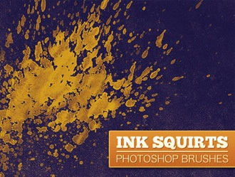 Ink Squirts Photoshop brush