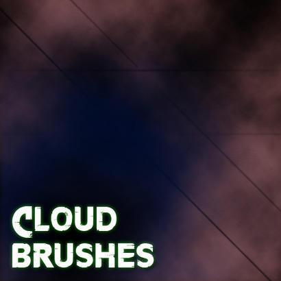5 Cloud Brushes Photoshop brush