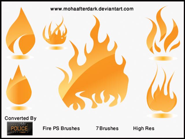 Fire Photoshop brush