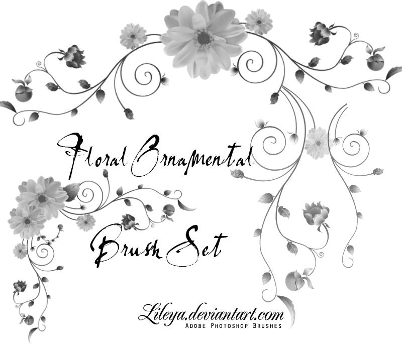 Floral Ornamental Brush Set Photoshop brush