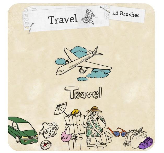Travel Brushes Photoshop brush