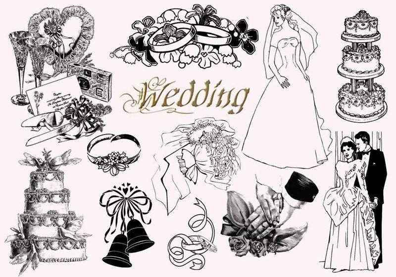 20  Vintage Wedding PS Brushes abr Photoshop brush
