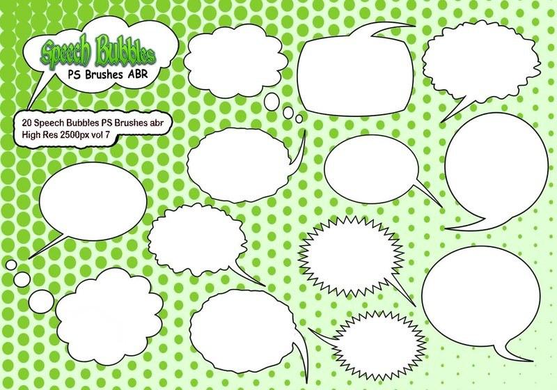 20 Speech Bubbles PS Brushes abr  vol 7 Photoshop brush