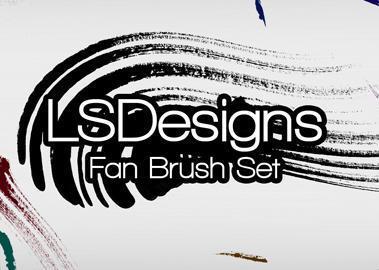 Fan Stroke Brushes Photoshop brush