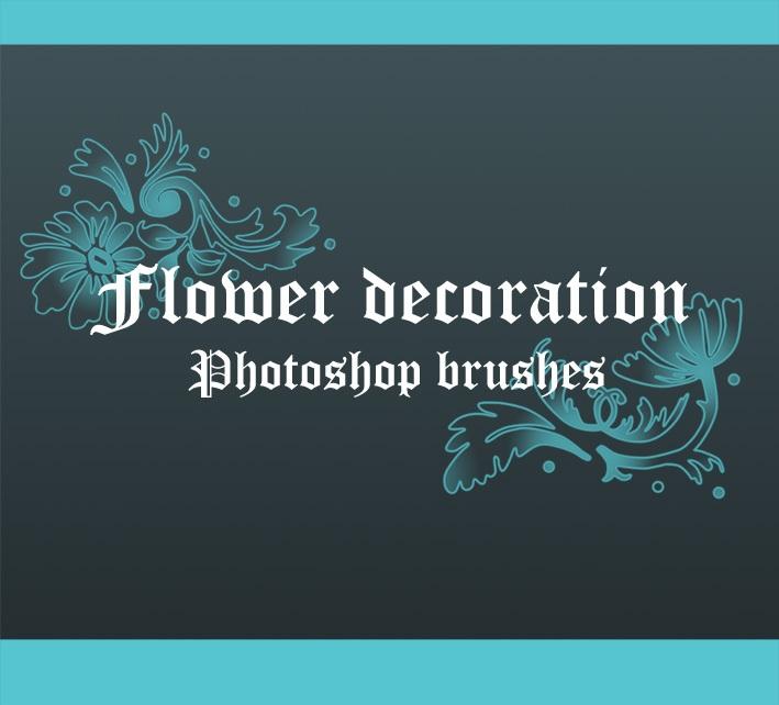 Flower Decoration Brushes Photoshop brush