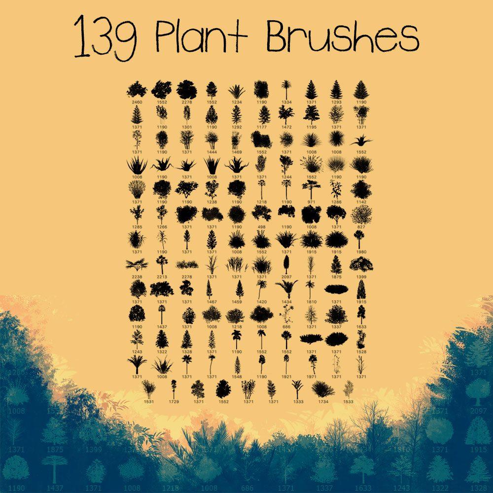 139 Plant Brushes Photoshop brush