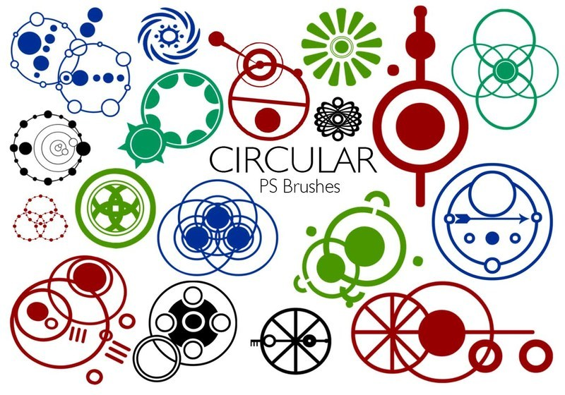 20 Circular PS Brushes abr. Vol.4 Photoshop brush