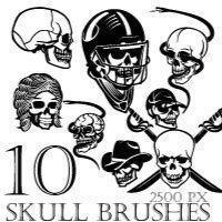 Skull Brush Pack 2 Photoshop brush