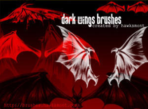 Dark Wings Brushes Photoshop brush