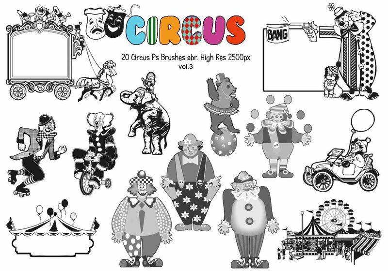 20 Circus Ps Brushes vol.3 Photoshop brush