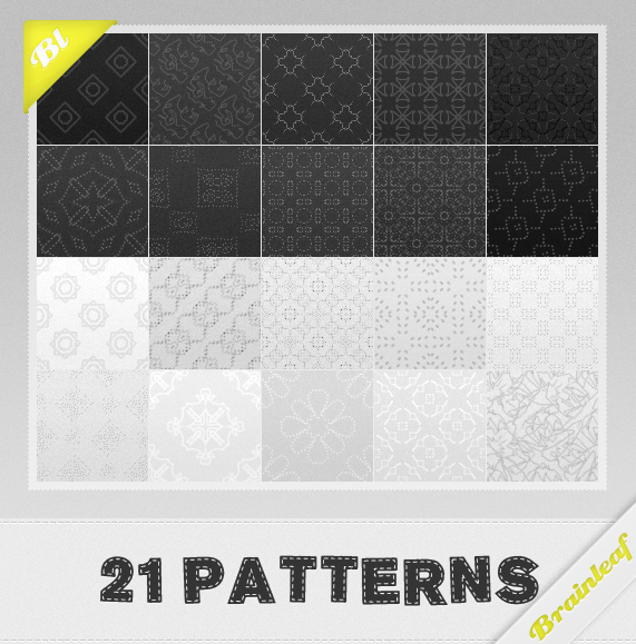 Black and White Patterns Photoshop brush