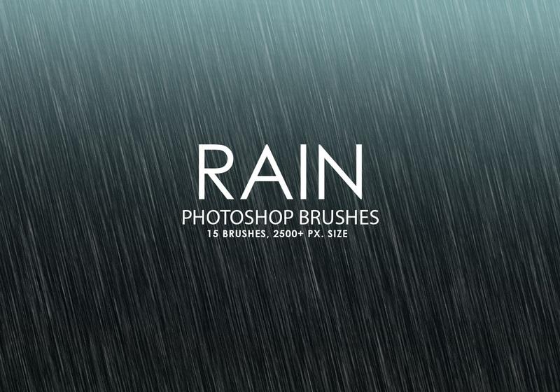 Free Rain Photoshop Brushes Photoshop brush
