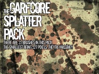 Massive Splatter Pack Photoshop brush