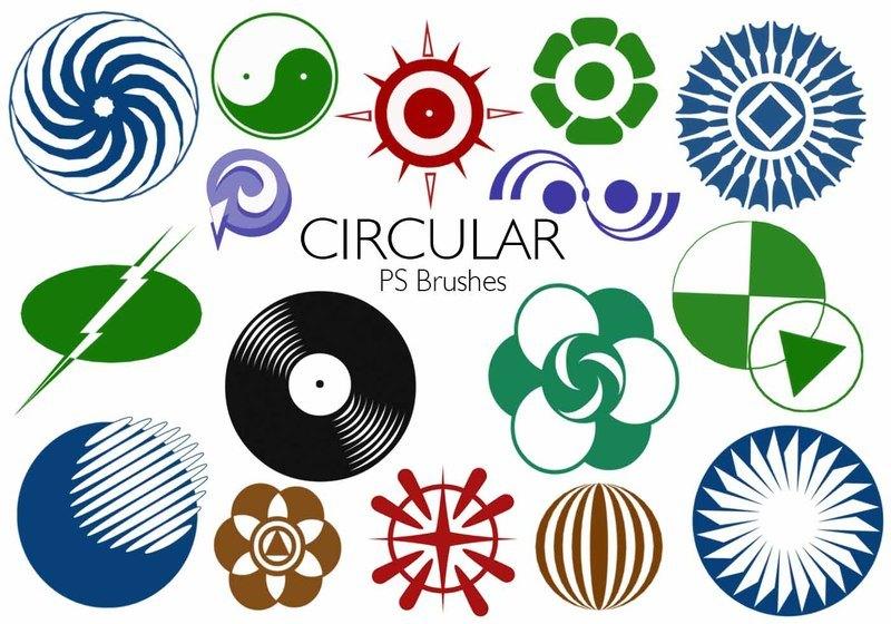 20 Circular PS Brushes abr. Vol.5 Photoshop brush