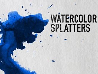 Watercolor Splatters Photoshop brush