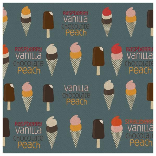 Ice Cream Pattern Photoshop brush